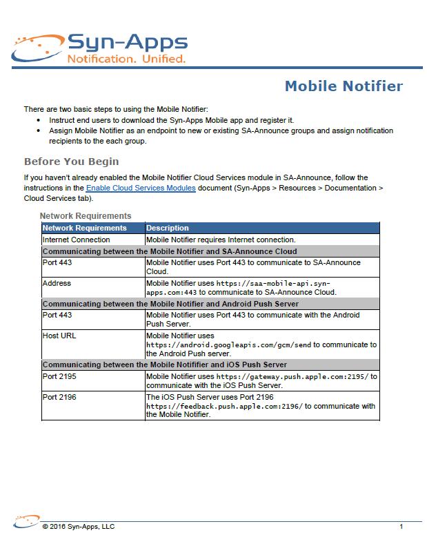Quick Start: Mobile Notifier