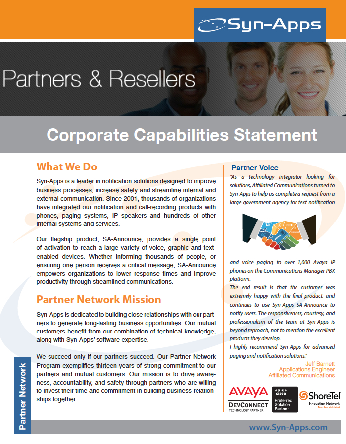 Corporate Capabilities Statement