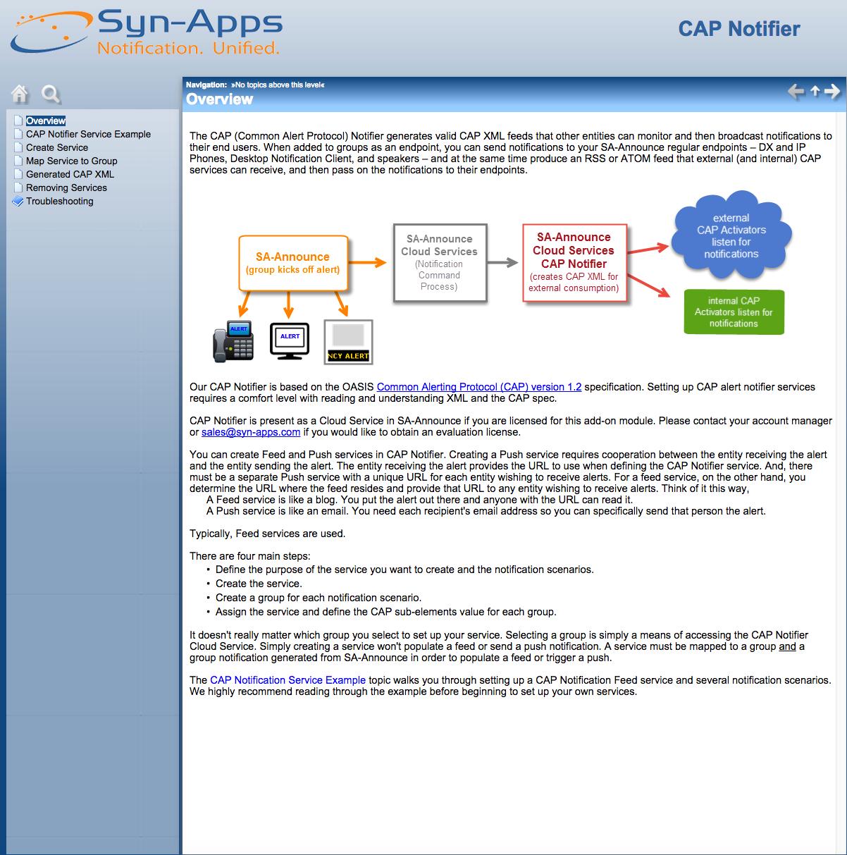 CAP Notifier Admin Guide
