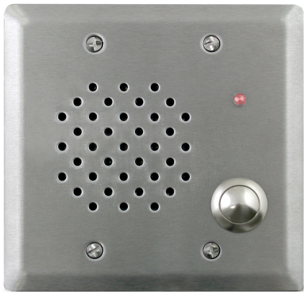 Vandal-Resistant, IP Flush Mount Doorplate Speaker